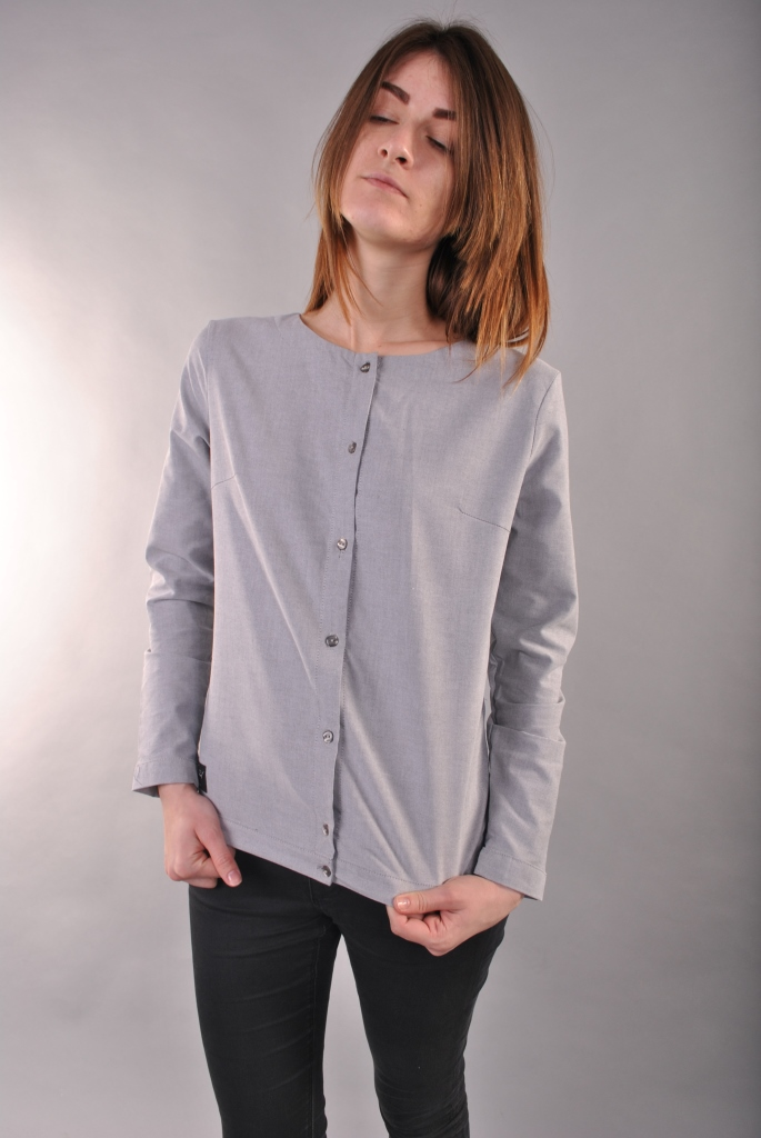 Gray Blouse