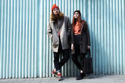 мужское и женское пальто