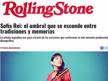 Feature in Rolling Stone magazine (MX)