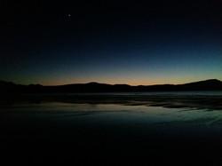 Evening star at Balnakeil Beach, Durness