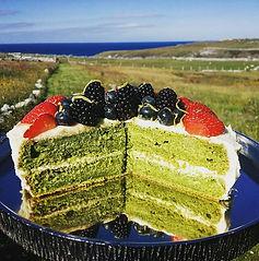 Home grown nettle & lemon cake...jpg