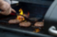 Hamburgers in Grill