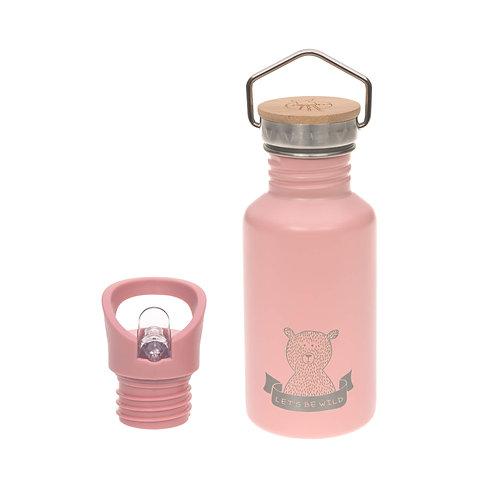 Nerūsējošā tērauda pudele ar sporta korķi (rozā) (500 ml)