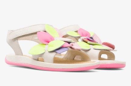 Twins sandales ar puķēm