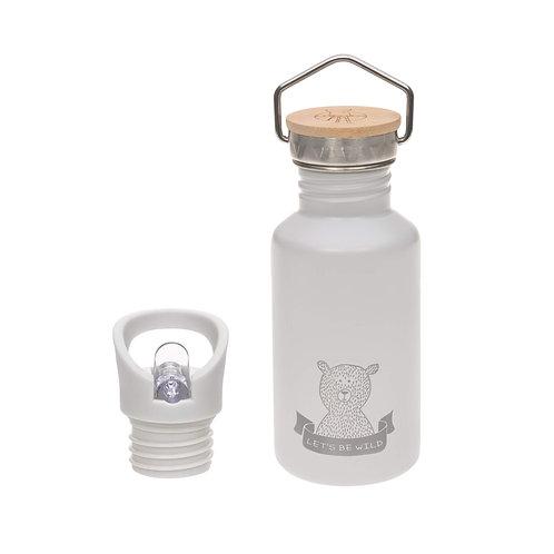 Nerūsējošā tērauda pudele ar sporta korķi (pelēka) (500 ml)