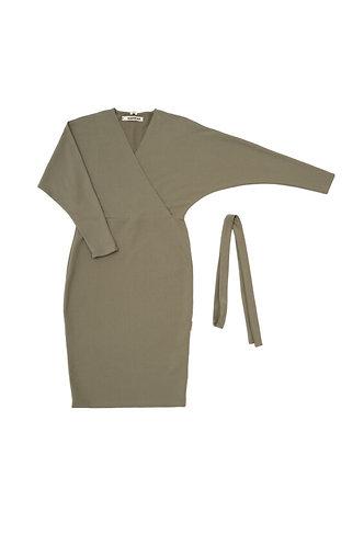 Klāras kleita (olīvzaļa/olive green)