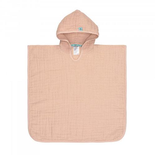 Pončo (kokvilnas muslīna) (rozā)