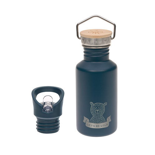 Nerūsējošā tērauda pudele ar sporta korķi (zila) (500 ml)
