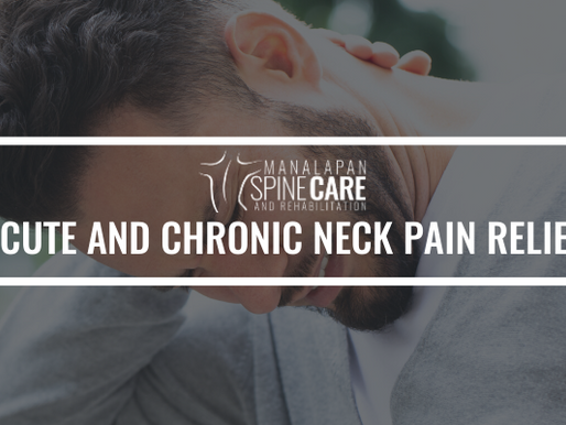 Acute and Chronic Neck Pain Relief in Manalapan, NJ