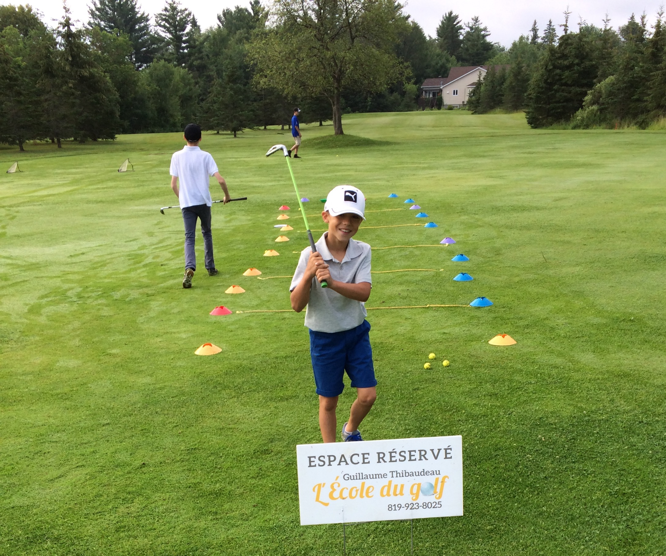 Participant au Camp de golf pour Juniors.