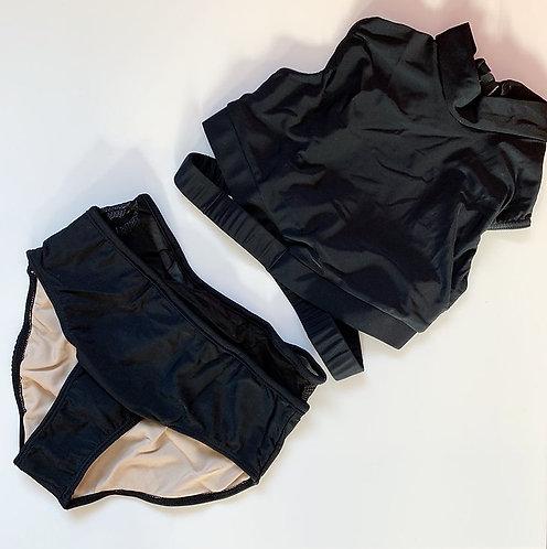 Prima Dancewear Crossover Crop Top Set