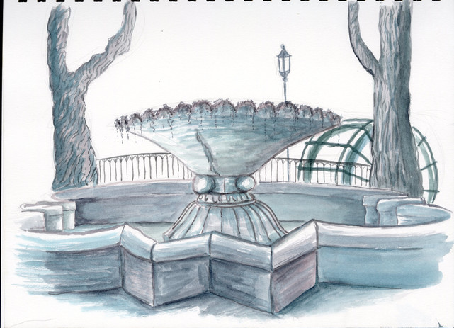 Sur la Sorgue, Fountain