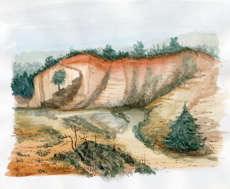 Ocher Mines, France