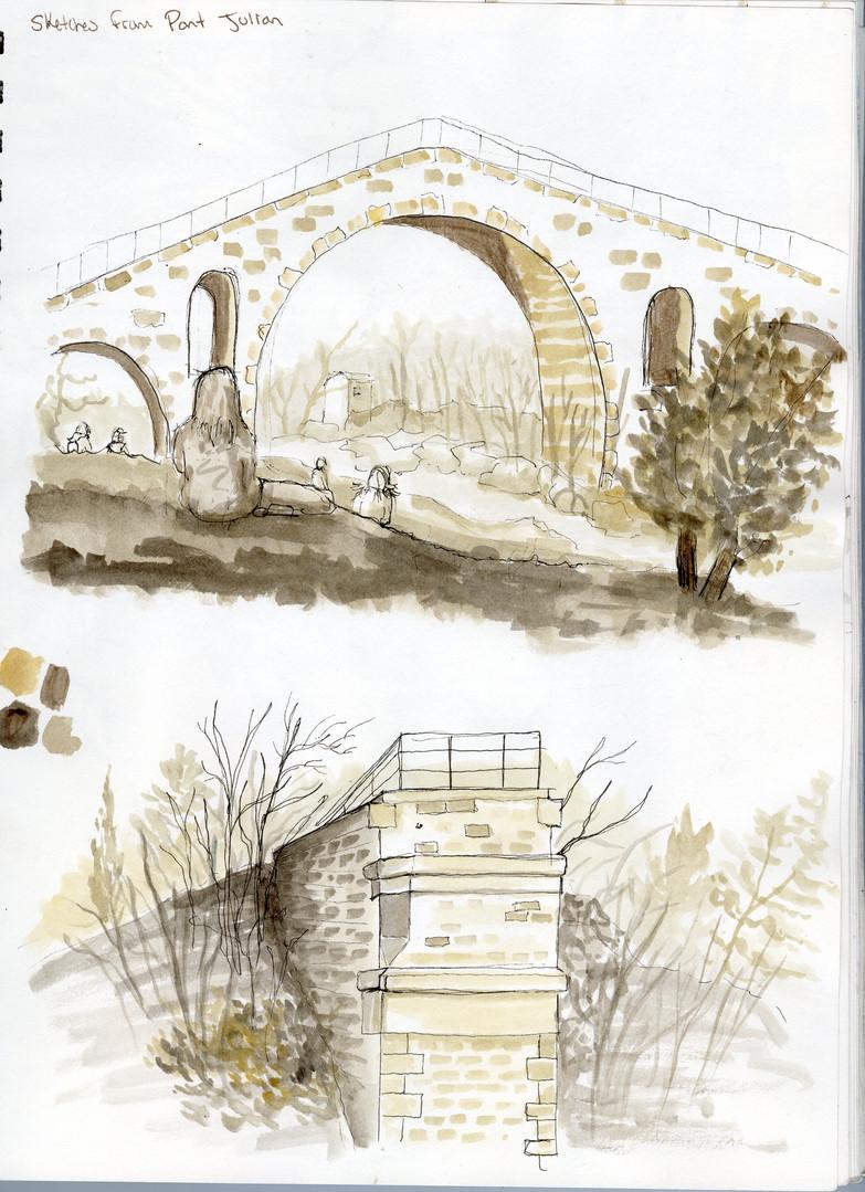 Pont Julien sketches