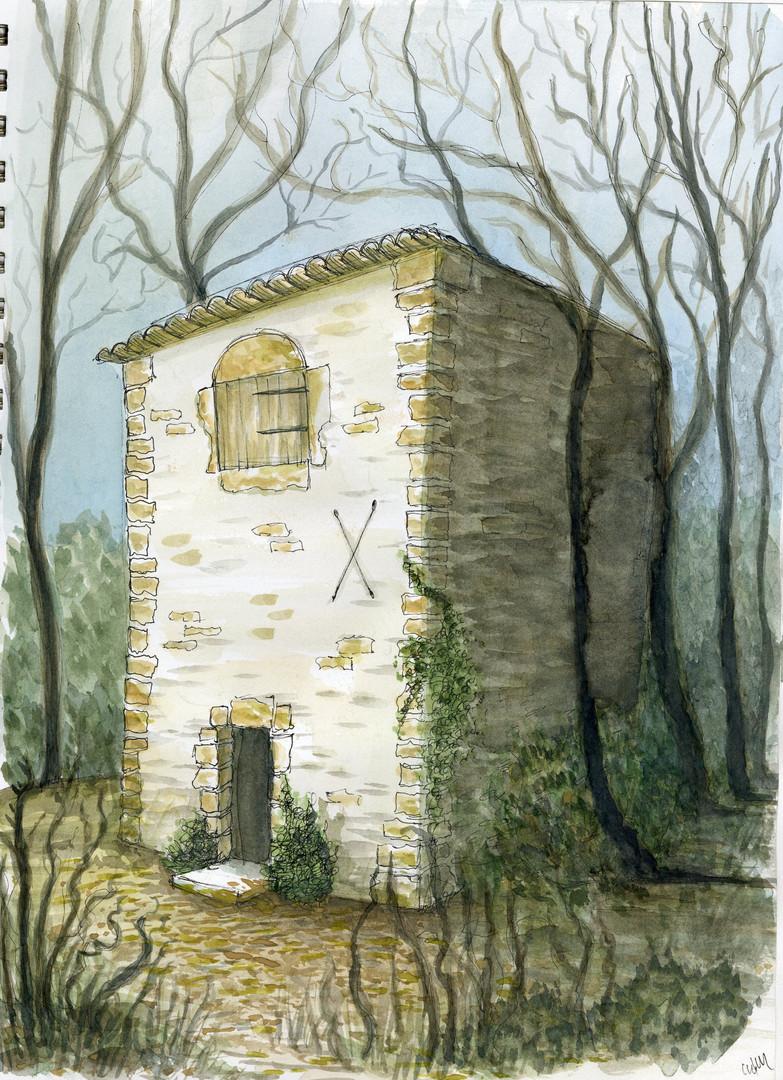 Ocher mine hut, France