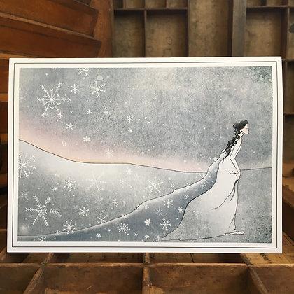 'Snow Maiden' Single Card - Wholesale