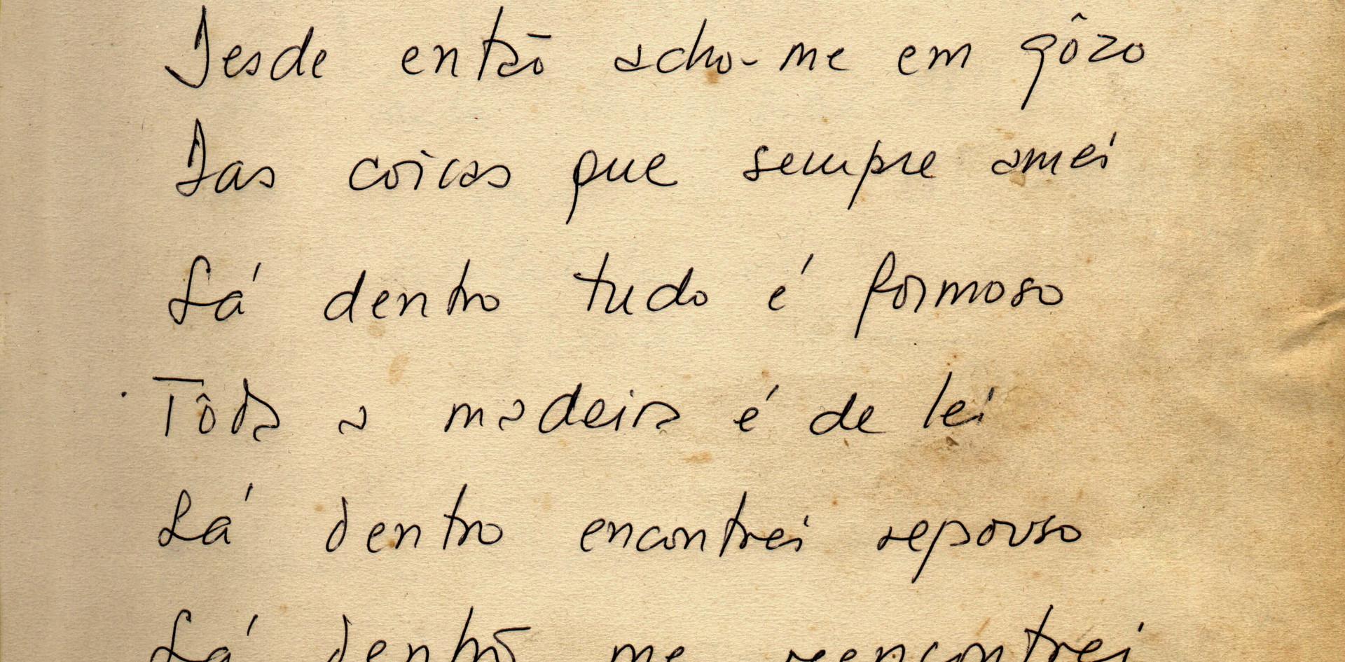 Poema de Vinícios de Morais para o Pouso do Chico Rey.