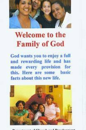 Welcome to the Family of God 25 Pack
