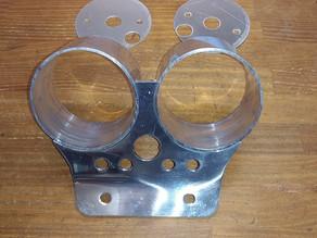 メーターパネル(Instrument panel)アルミ製 80φメーターに対応 LeMansⅠ&Ⅱ等に最適!