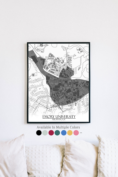 Print of Emory University and all its roads
