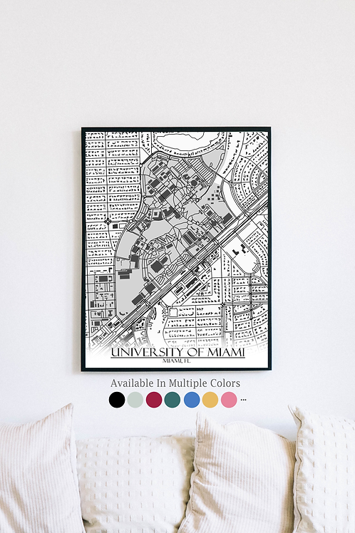 Print of Miami and all its roads
