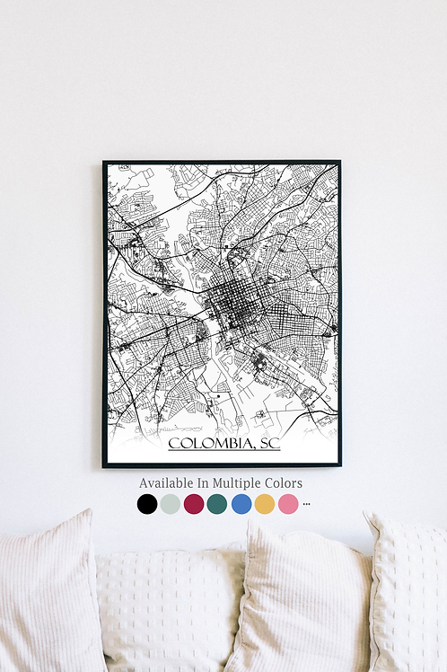 Print of Colombia and all its roads
