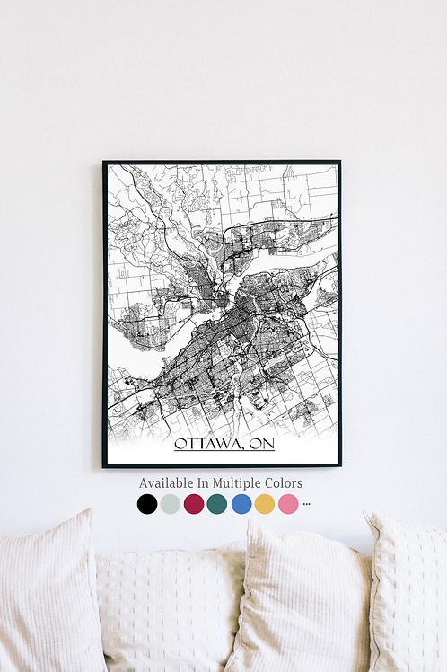 Print of Ottawa and all its roads