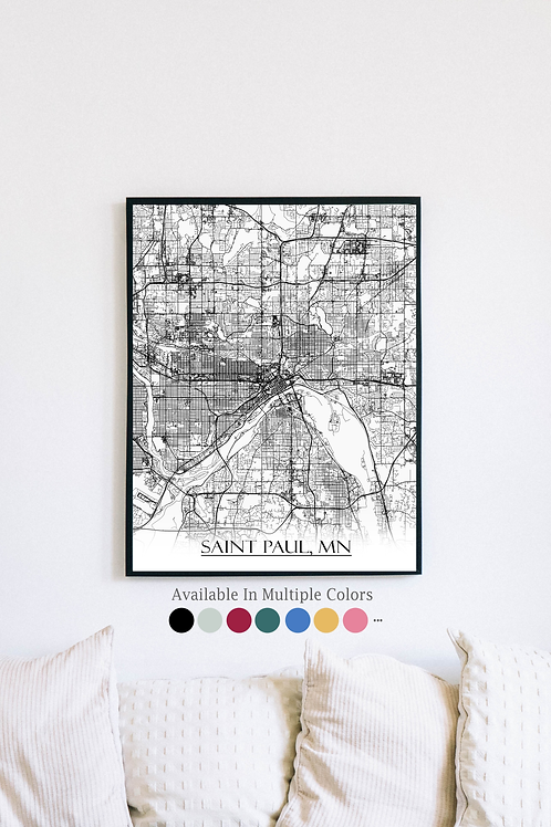 Print of Saint Paul and all its roads