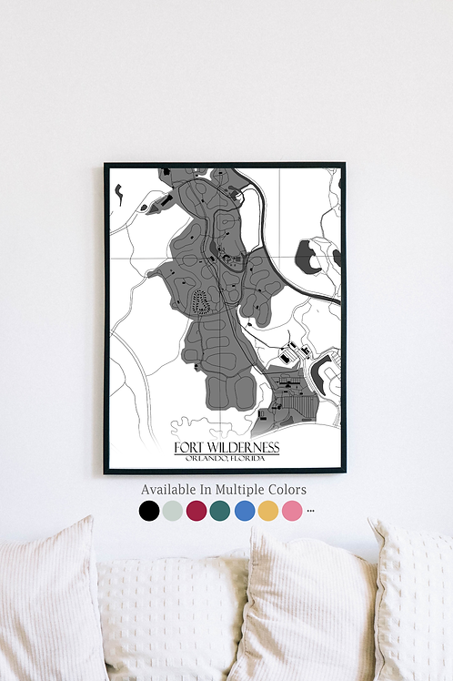 Print of Fort Wilderness and all its roads