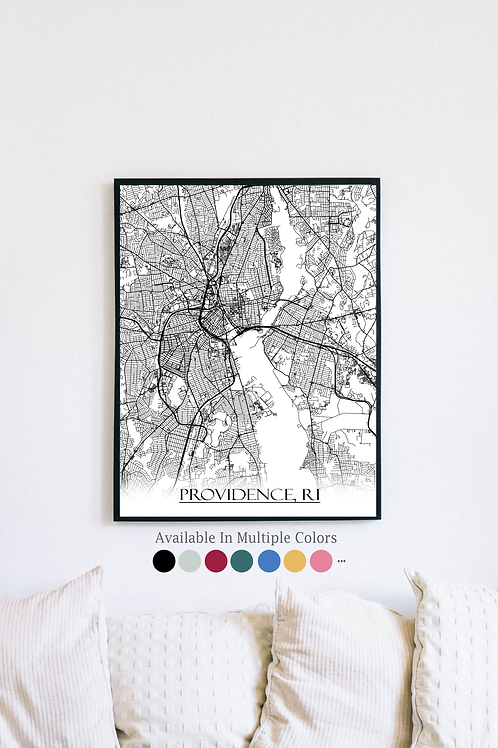 Print of Providence and all its roads