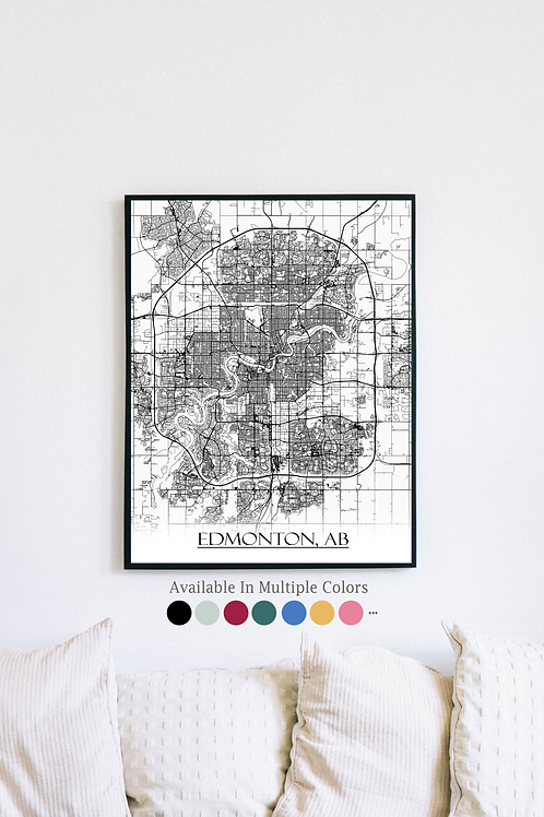 Print of Edmonton and all its roads