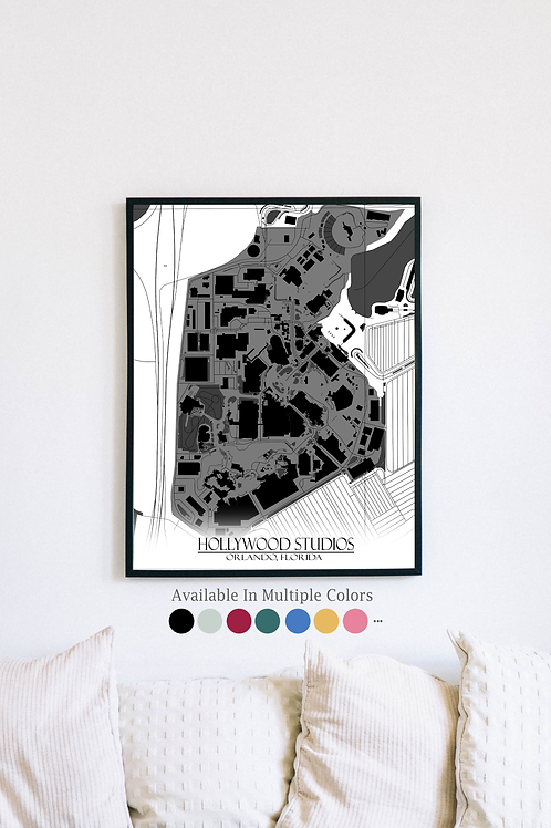 Print of Hollywood Studios and all its roads