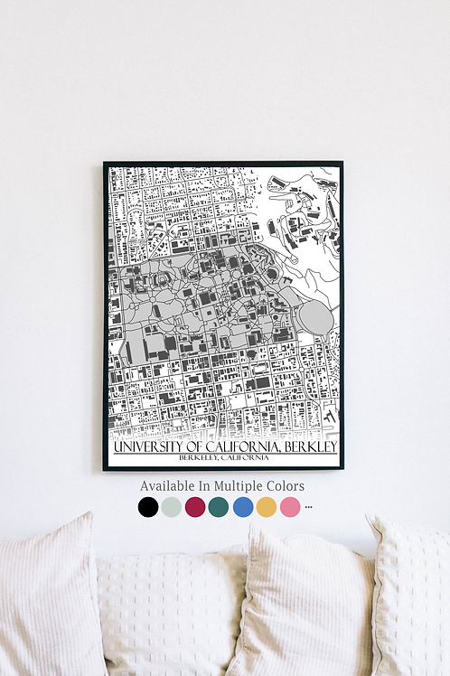 Print of [UC Berkley] University of California, Berkley and all its roads