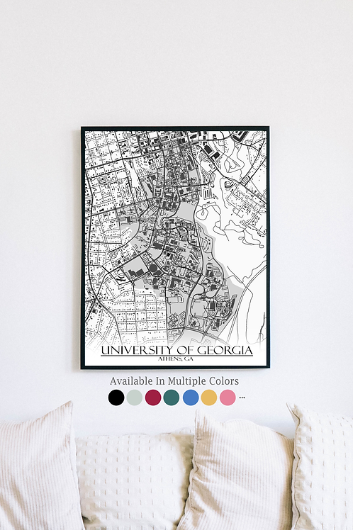 Print of University of Georgia and all its roads