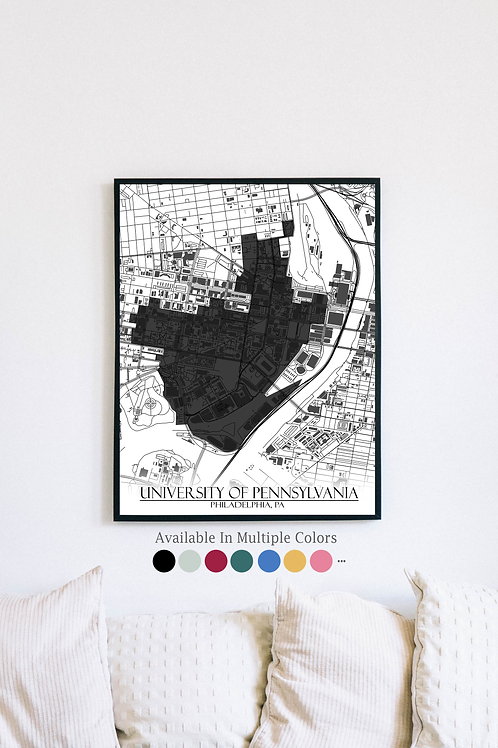 Print of University of Pennsylvania and all its roads