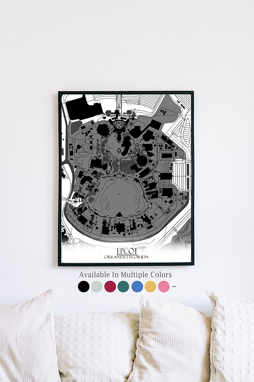 Print of Epcot and all its roads