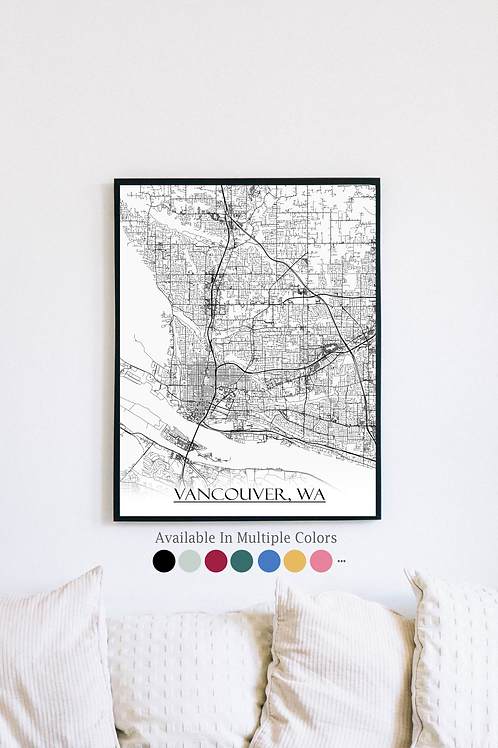 Print of Vancouver and all its roads