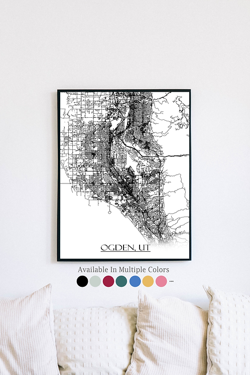 Print of Ogden, UT and all its roads