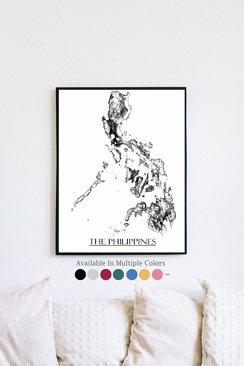 Print of The Philippines and all its roads