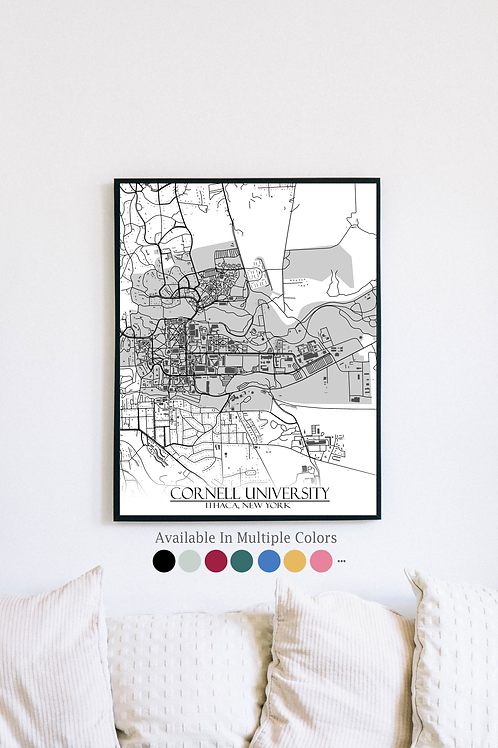 Print of Cornell University and all its roads
