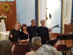 After a wonderful performance of the Bolling Suite for Flute, Jazz Piano, Bass and Drums - May 2018