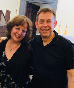 me with my pianist from Ensemble Bella Luce - Dave Malyszko