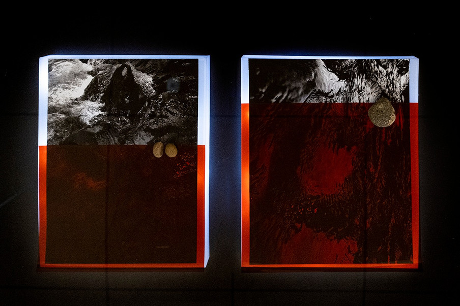 S.Dieu, light and photo installation wit