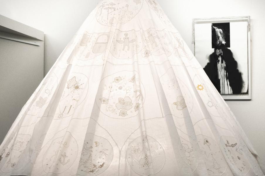S.Dieu, Longing for Home dress, backgrou