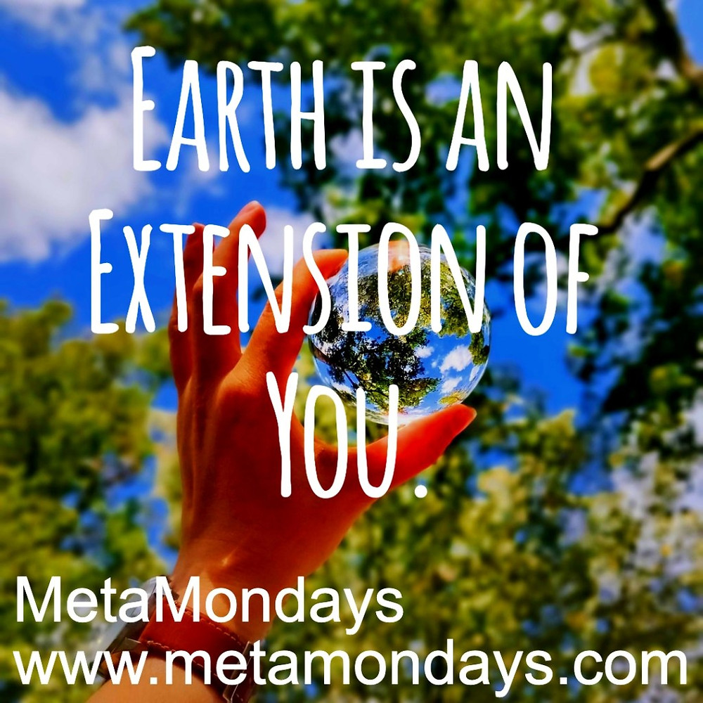 Earth is an extension of you.  www.metamondays.com/earth-is-an-extension-of-you