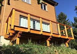 Balcon en bois sur mesures