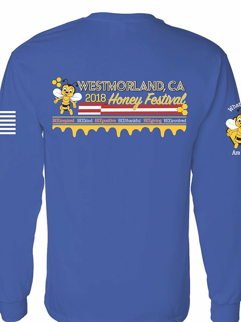 2018 Long Sleeve Blue Shirt