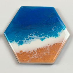 Hexagonal Beach coasters