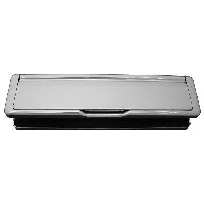 Letter Plate Set in satin chrome