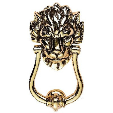 Door Knocker in polished brass